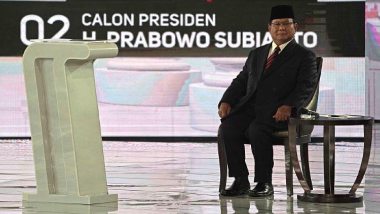 Prabowo Subianto dalam Debat Capres 2019. Copyright: © Dimas Ardian/Bloomberg via Getty Images