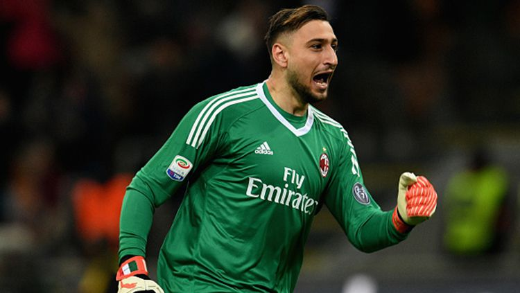 Gianluigi Donnarumma masuk dalam kandidat peraih Golden Boy 2019. Copyright: © Claudio Villa/Getty Images
