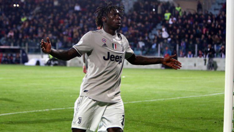 Moise Kean saat memperkuat Juventus. Copyright: © Enrico Locci/Getty Images