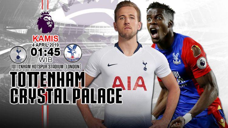 Prediksi pertandingan Tottenham Hotspur vs Crystal Palace. Copyright: © INDOSPORT/Yooan Rizky Syahputra