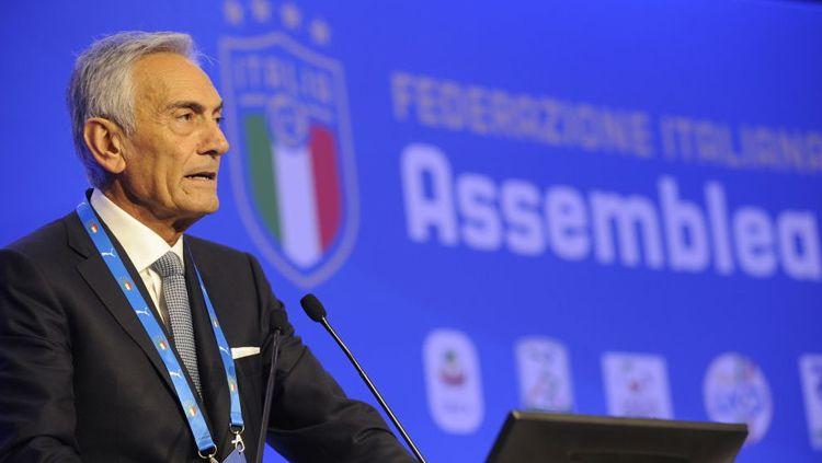 Presiden Federasi Sepak Bola Italia (FIGC) Gabriele Gravina Copyright: © Marco Rosi/Getty Images