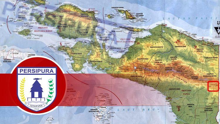 Persipura Jayapura dan map Papua Copyright: © INDOSPORT