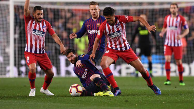 Memiliki materi pemain yang nyaris sepadan di setiap lini akan membuat laga antara Barcelona dan Atletico Madrid ini diprediksi bakal berjalan sangat alot. Copyright: © Alex Caparros/Getty Images