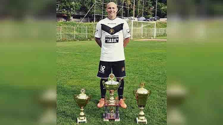 Milo Micunovic, striker Serbia yang Diincar Bhayangkara FC dan Arema FC. Copyright: © instagram.com/milomicunovic