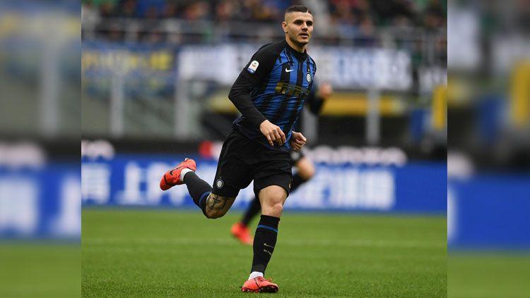 Permasalahan antara klub sepak bola Inter Milan dengan sang striker, Mauro Icardi, kini sudah mencapai puncaknya. Copyright: © Twitter/@Inter_id
