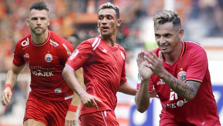 Marko Simic, Silvio Escobar dan Bruno Matos. Grafis:Yanto/Indosport.com Copyright: © Grafis:Yanto/Indosport.com