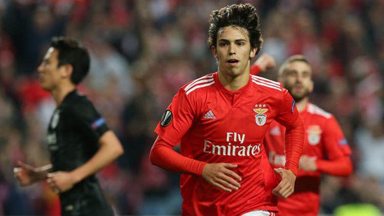 Joao Felix dalam laga Liga Europa, Benfica v Eintracht Frankfurt. Copyright: © Gualter Fatia/Getty Images