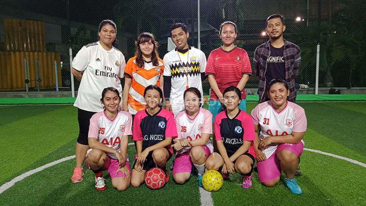 KG Angels, Komunitas Futsal Wanita Untuk Para Awak Media. Foto: Shintya Anya Maharani/INDOSPORT Copyright: © Shintya Anya Maharani/INDOSPORT