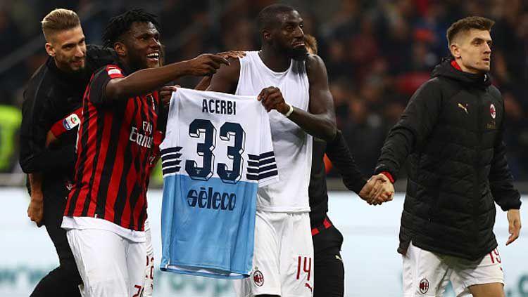Aksi tak terpuji dari pemain Milan, Bakayoko usai laga melawan Lazio akhir pekan kemarin di San Siro. Copyright: © Marco Luzzani / GettyImages