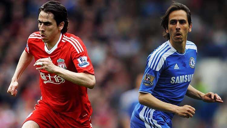 Yossi Benayoun pernah bermain untuk Liverpool (kiri) dan Chelsea. Copyright: © LiverpoolFC