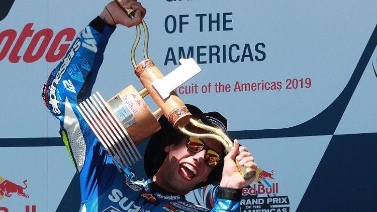 Pembalap Suzuki, Alex Rins memenangkan gelar juara pertamanya di MotoGP Amerika Serikat, Senin (15/04/19) dini hari WIB, di Circuit of the Americas, Austin. Copyright: © Autosport