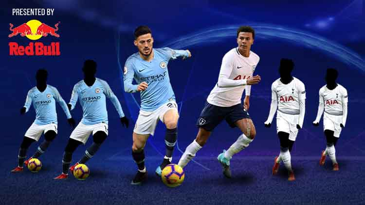 Tiga duel kunci pada leg kedua Liga Champions jelang Manchester City vs Tottenham Hotspur. Copyright: © footyrenders.com/Eli Suhaeli/INDOSPORT