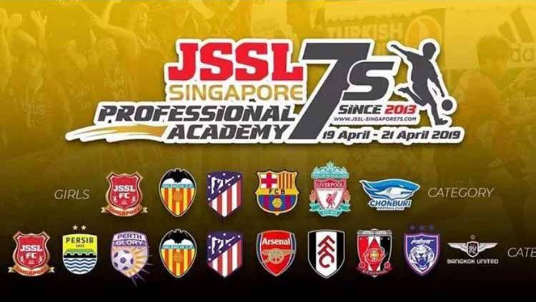 Persib Bandung, Arsenal, dan Valencia akan mengikuti turnamen di Singapura yang bernama JSSL Profesional Academy 2019 Copyright: © www.foxsportsasia.com
