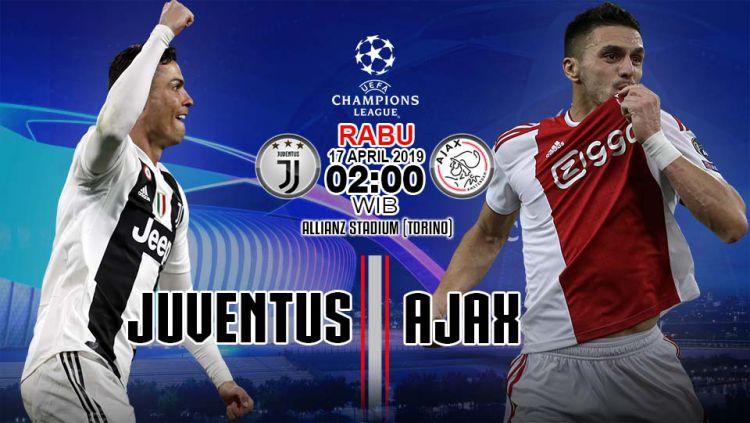 Prediksi pertandingan liga Champions Juventus vs Ajax. Copyright: © Indosport/Yooan Rizky Syahputra