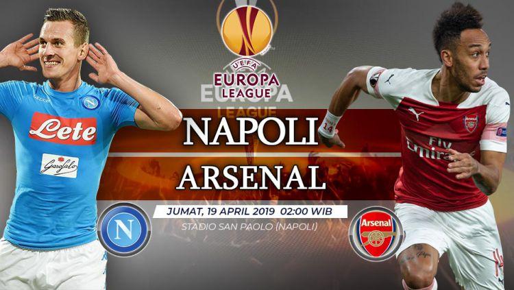 Prediksi pertandingan Europa legue Napoli vs Arsenali. Copyright: © INDOSPORT/Yooan Rizky Syahputra