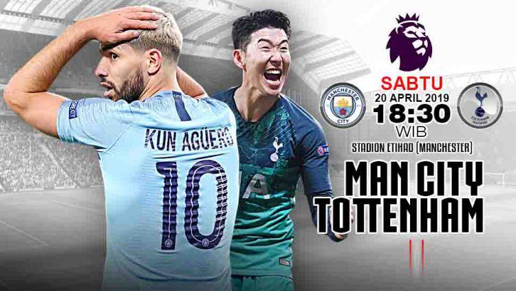 Pertandingan Manchester City vs Tottenham Hotspur. Grafis:Tim/Indosport.com Copyright: © Grafis:Tim/Indosport.com