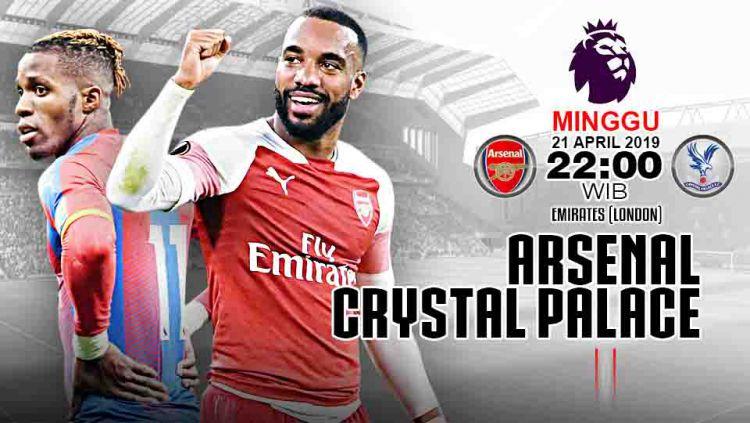 Pertandingan Arsenal vs Crystal Palace. Grafis: Tim/Indosport.com Copyright: © Grafis: Tim/Indosport.com