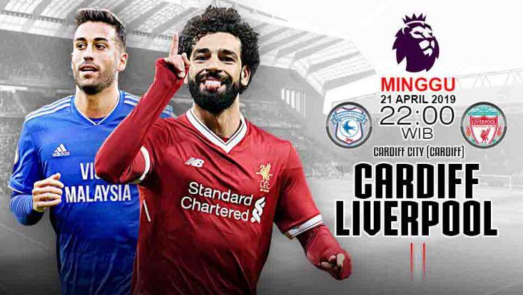 Pertandingan Cardiff vs Liverpool. Grafis: Tim/Indosport.com Copyright: © Grafis: Tim/Indosport.com