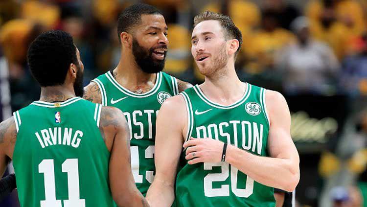 Boston Celtics memastikan diri melaju ke semifinal  NBA Playoffs 2019. Copyright: © Andy Lyons/GettyImages
