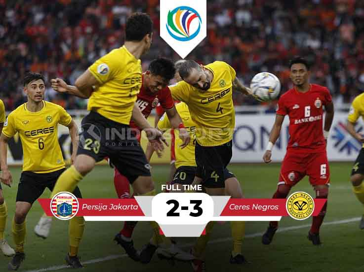 Hasil Pertandingan Piala AFC Persija vs Ceres-Negros: Macan Kemayoran Nyaris Menang