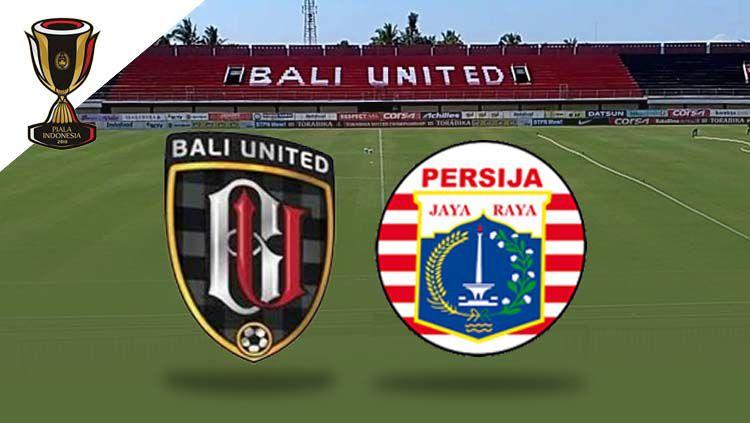 Logo Bali United vs Persija Jakarta di Piala Indonesia 2019 Copyright: © Eli Suhaeli/INDOSPORT