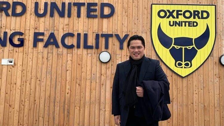 Erick Thohir yang berambisi membawa klub miliknya, Oxford United, melangkah jauh di kompetisi sepak bola Inggris. Copyright: © Instagram/Erick Thohir