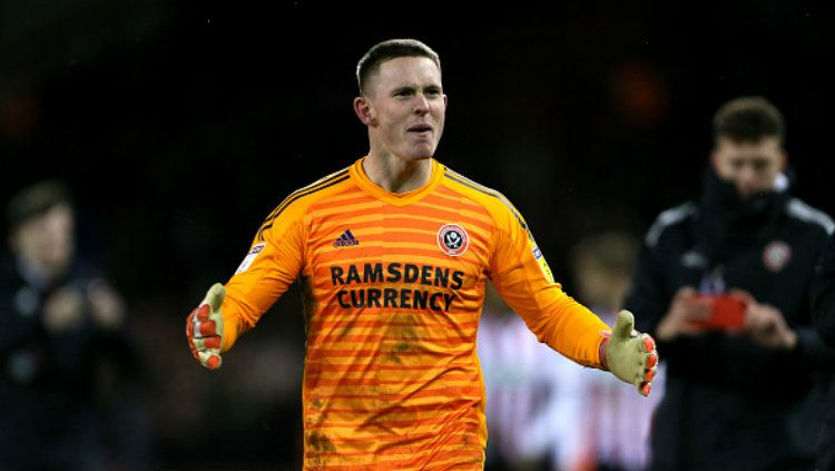 Dean Henderson, kiper Sheffield United, ingin gantikan posisi David de Gea di Manchester United. Copyright: © Richard Sellers/EMPICS/PA Images via Getty Images