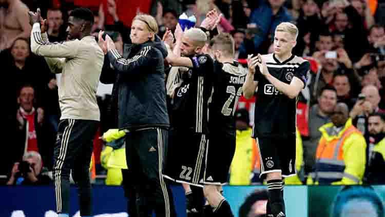 Tim Ajax Amsterdan berhasil menumbangkan Tottenham dengan skor 1-0 tanpa balas di leg pertama semifinal Liga Champions Copyright: © Eric Verhoeven/Soccrates/Getty Images