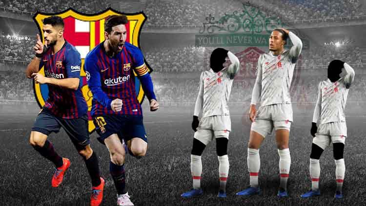 Luis Suarez dan Lionel Messi jadi momok menakutkan Liverpool. Copyright: © Eli Suhaeli/INDOSPORT