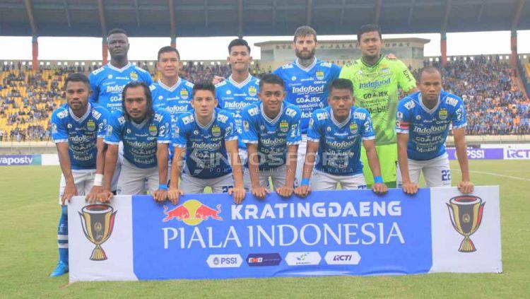 Skuat Persib Bandung saat di Stadion Si Jalak Harupat, Kabupaten Bandung, Sabtu (04/05/2019). Foto: Arif Rahman/INDOSPORT Copyright: © Arif Rahman/INDOSPORT
