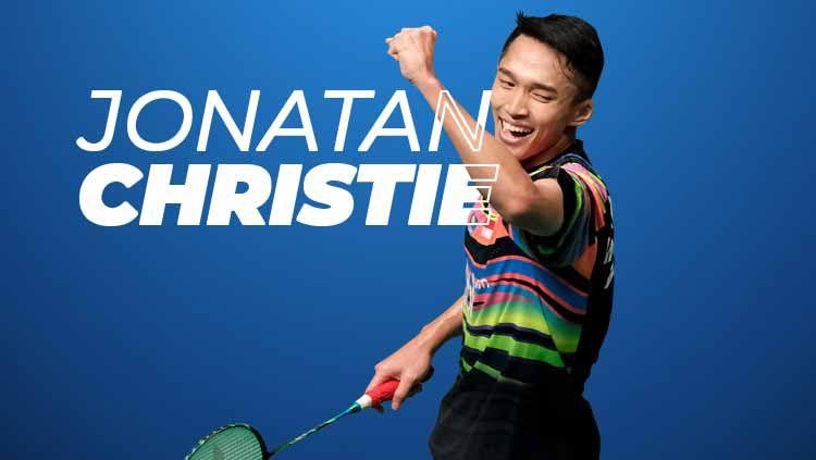 Jonathan Christie berhasil memenangkan turnamen bulutangkis Australia Open 2019 setelah mengalahkan sesama wakil Indonesia, Anthony Sinisuka Ginting. Copyright: © Eli Suhaeli/INDOSPORT