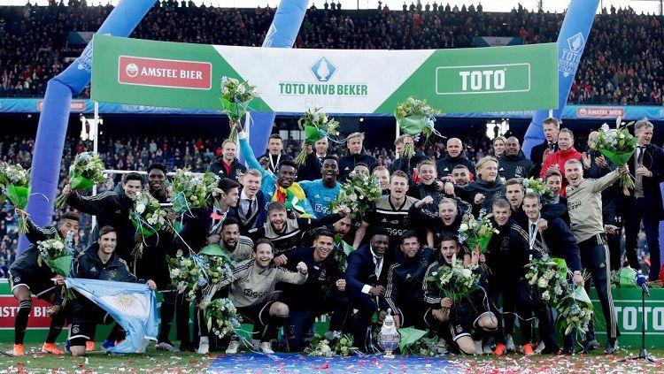 Ajax menjuarai KNVB Cup 2018/19. Copyright: © Twitter @nico_taglia
