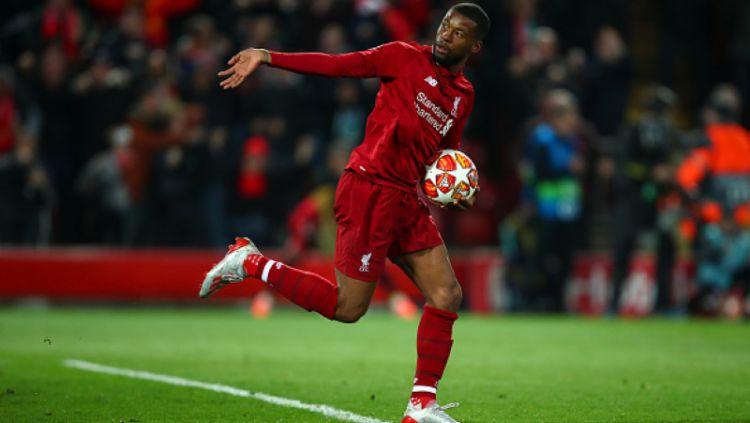 Raksasa sepak bola Liga Inggris, Liverpool, ternyata sudah punya pengganti dari Georginio Wijnaldum yang rencananya bakal dilepas di bursa transfer. Copyright: © Robbie Jay Barratt - AMA / Contributor / Getty Images