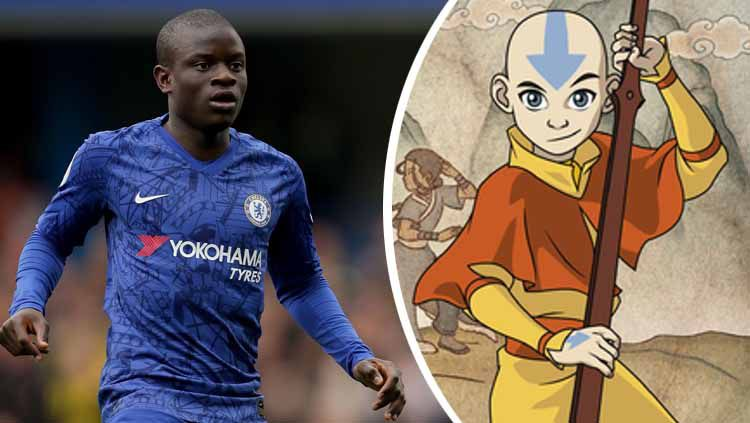 Avatar Aang dan Ngolo Kante. Copyright: © Richard Heathcote/Getty Images/Kobo.com