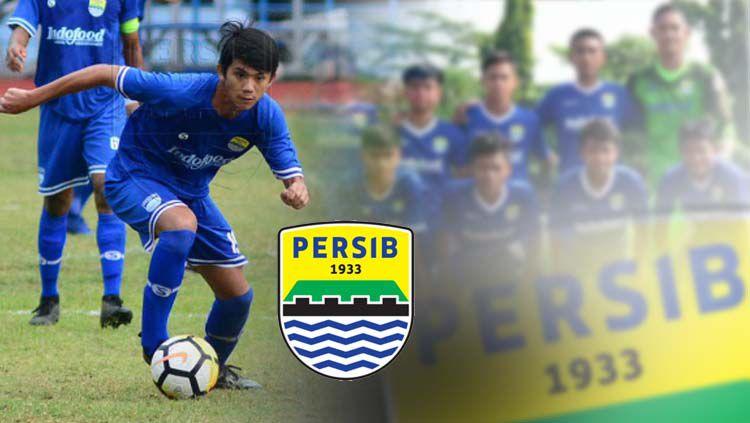 Muhammad Valeron dan skuat Persib Bandung U-16. Copyright: © © PERSIB.co.id