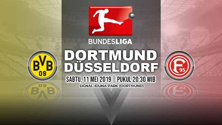 Pertandingan Borussia Dortmund vs Fortuna Dusseldorf. Grafis: Tim/Indosport.com Copyright: © Grafis: Tim/Indosport.com