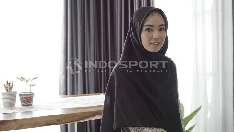 Lindswell Kwok, mantan atlet wushu Indonesia di kediamannya. Copyright: © Roihan Susilo Utomo/INDOSPORT
