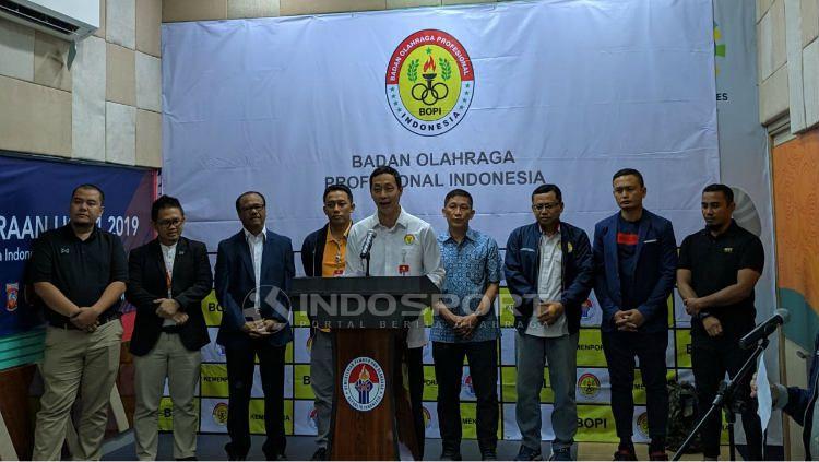 Badan Olahraga Profesional Indonesia (BOPI) telah memberikan rekomendasi kepada PT Liga Indonesia Baru (LIB) untuk Liga 1 2019. Copyright: © Zainal Hasan/INDOSPORT