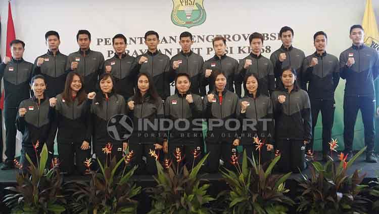 Pelepasan Tim Piala Sudirman 2019 di Hotel Atlet Century, Jakarta, Sabtu (10/05/19). Copyright: © Herry Ibrahim/INDOSPORT