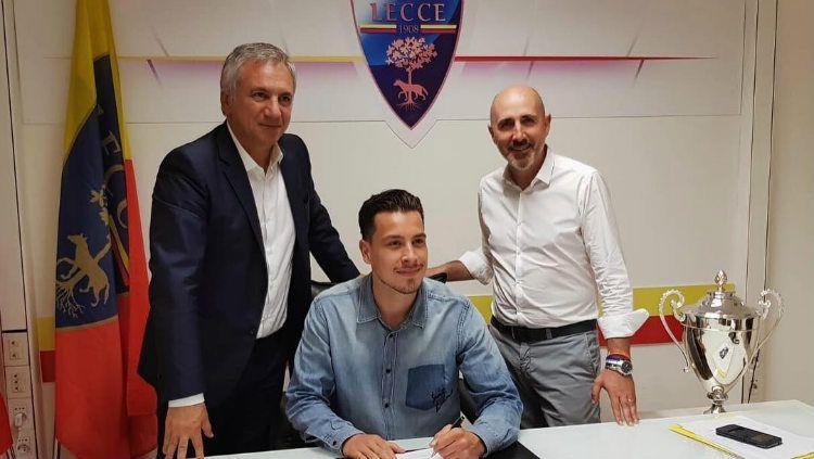 Lecce klub yang baru dipromosikan ke liga Serie A musim 2019/20 mendatang. Copyright: © instagram.com/thomhaye