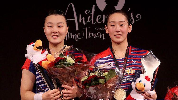 Pasangan ganda putri Korea Selatan, Lee So Hee/Shin Seung Chan. Copyright: © VICTOR Indonesia