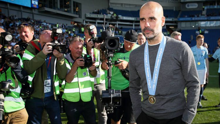 Pelatih Manchester City, Pep Guardiola (Photo by Matthew Ashton - AMA/Getty Images). Copyright: © Matthew Ashton - AMA/Getty Images