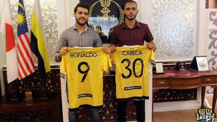Dua pemain baru Perak FA, Ronaldo Henrique dan Careca. Copyright: © Twitter