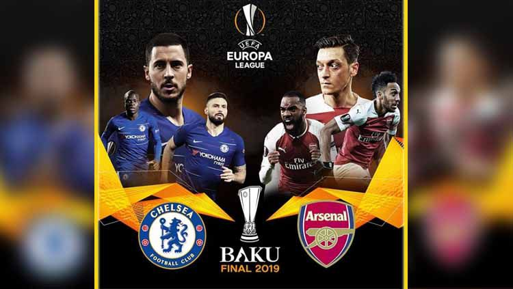 Final Liga Europa 2018-19 antara Chelsea vs Arsenal. Copyright: © Instagram Europa League