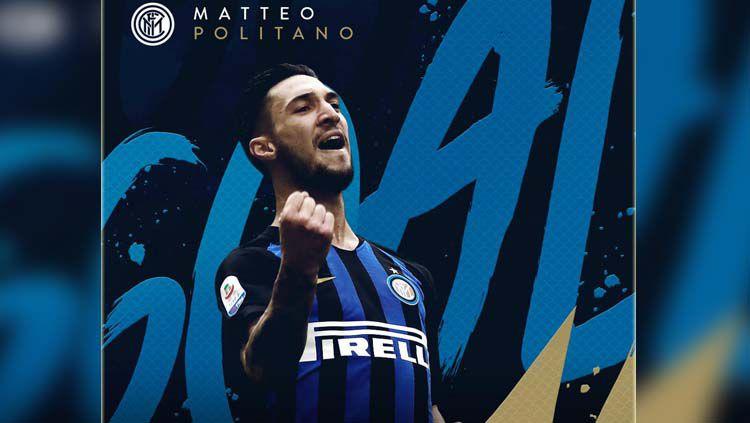 Selebrasi pemain Inter Milan, Matteo Politano Copyright: © Twitter Inter Milan