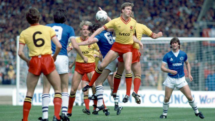 Everton vs Watford, pertandingan final Piala FA 1983/84. (Foto: Keith Hailey/Popperfoto/Getty Images) Copyright: © Keith Hailey/Popperfoto/Getty Images