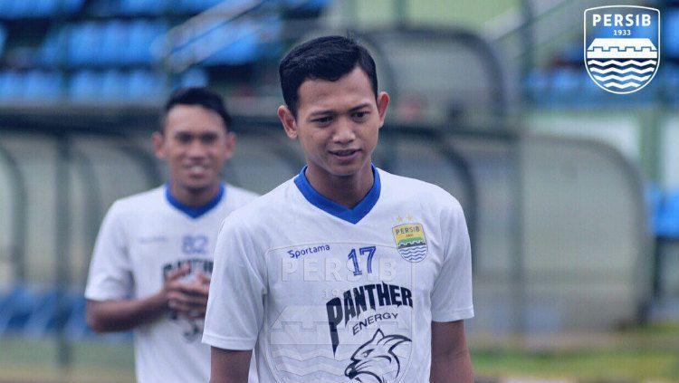 Penyerang Persib Bandung, Muchlis Hadi Ning, dipinjamkan ke klub Liga 2, Blitar Bandung United. (Foto: persib.co.id) Copyright: © persib.co.id