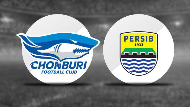 Logo Chonburi fc dan Persib Bandung. Copyright: © INDOSPORT