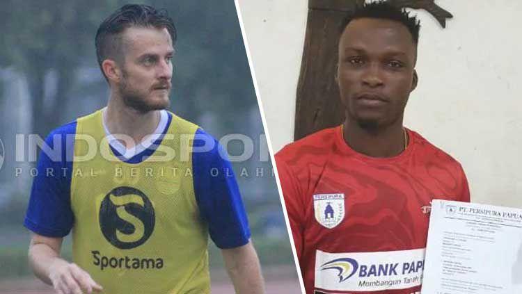 Pemain asing baru Persib Bandung vs Persipura Jayapura, Rene Mihelic dan Ibrahim Conteh Copyright: © INDOSPORT