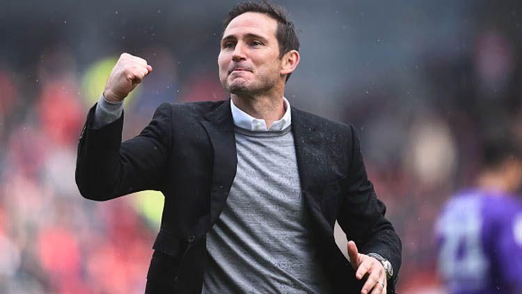 Frank Lampard, legenda Chelsea yang kini jadi pelatih Derby Country, dirumorkan kembali ke Stamford Bridge sebagai manajer. Nathan Stirk/GettyImages. Copyright: © Nathan Stirk/GettyImages